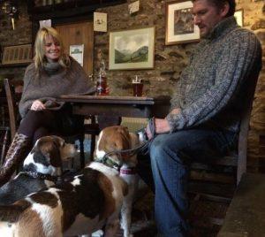 The Black Lion dog friendly pub in Brechfa Forest